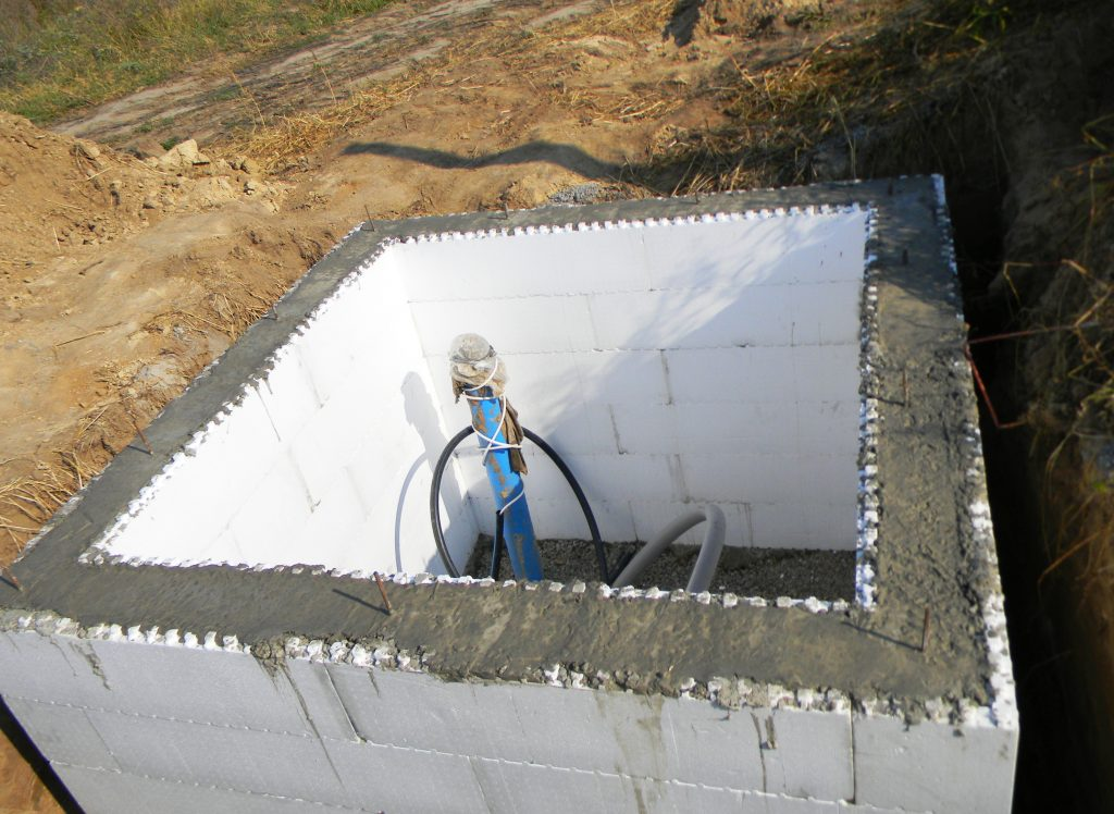 Constructing,A,Pump,House,,Pumping,Station,,Water,Borehole,Chamber,From